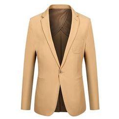RUYA - Plain Single-Button Blazer