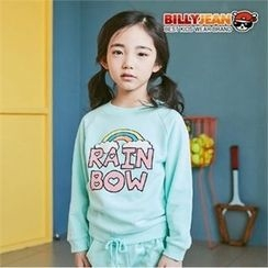 BILLY JEAN - Girls Beribboned-Hem Lettering Sweatshirt