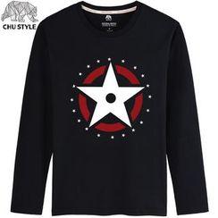 CHU STYLE - Print Long-Sleeve T-shirt