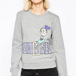 Richcoco - Cartoon Print Pullover