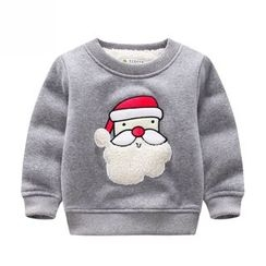 Endymion - Kids Santa Claus Applique Pullover