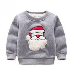 Endymion - 儿童圣诞老人贴花套头衫