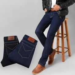 Denimic - Fleece Lined Straight Fit Jeans