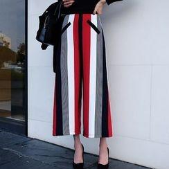 Aurora - Striped Wide-Leg Pants