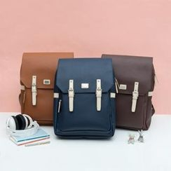 iswas - Flap-Front Buckled Backpack