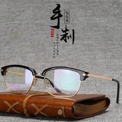 Reveries - 復古半框超輕平光眼鏡