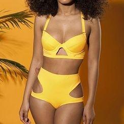 Nadia - 兩件鏤空泳衣