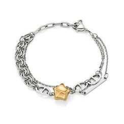 Kenny & co. - Share Of Love Ip Rose Gold Lucky Star Steel Bracelet
