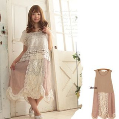 Nectarine - Lace Tank Dress