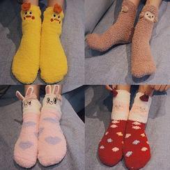 Melon Juice - Cartoon Fleece Socks
