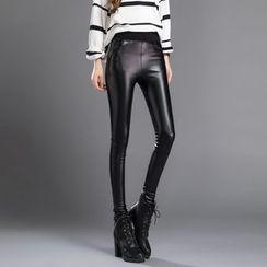 HotBlock - Faux Leather Leggings