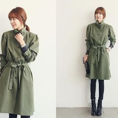NANING9 - Buckled Collar Trench Coat