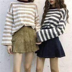 IndiGirl - Plain Pleated A-Line Skirt