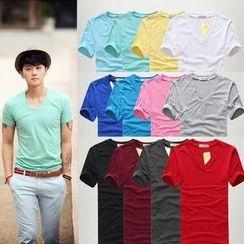 Sheck - Short-Sleeve V-Neck T-Shirt