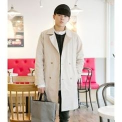 ABOKI - Double-Breasted Trench Coat