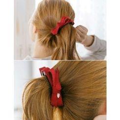 soo n soo - Faux-Suede Bow Hair Clamp