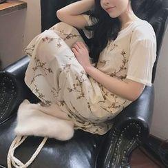 Alfie - 碎花雪紡吊帶連衣裙