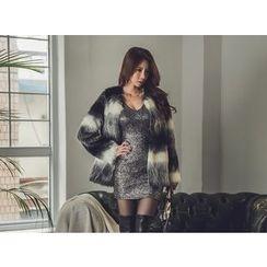 UUZONE - Faux-Fur Jacket