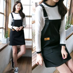 Dowisi - Set: Long-Sleeve T-Shirt + Jumper Dress