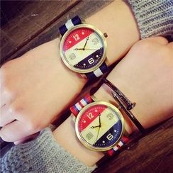 InShop Watches - Color-Block Strap Watch