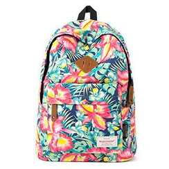 Mr.ace Homme - Canvas Floral Backpack