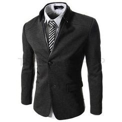 TheLees - Mandarin-Collar Two-Button Jacket