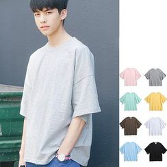 Chuoku - Short-Sleeve Plain T-Shirt