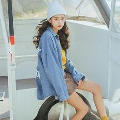AiAi Bear - Oversized Denim Shirt