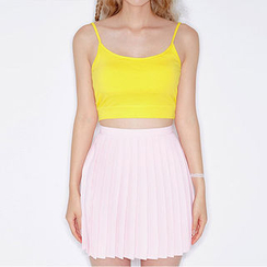 chuu - Colored Cotton Bra Top