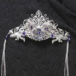 Paparazzi - Flower Dangling Tiara