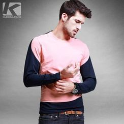 Quincy King - Colour Block Long-Sleeve T-shirt