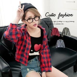 CUTIE FASHION - Plaid Shirt