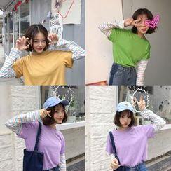 QZ Lady - Long-Sleeve Mock Two Piece T-Shirt