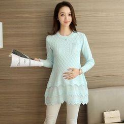 Falaso - 層層孕婦針織連衣裙