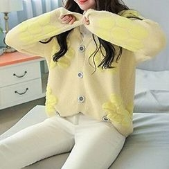 FR - Dotted Chunky Knit Cardigan