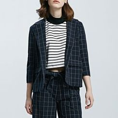 LUIMINE - Plaid Blazer