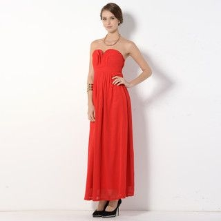 YesStyle Z - Strapless Pleated A-Line Dress