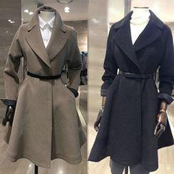 Athena - Belted A-Line Coat