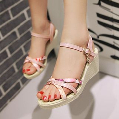 Pastel Pairs - Strappy Wedge Sandals