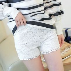 nooyi - Lace Boy Shorts