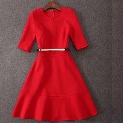 雅典娜 - A字連衣裙