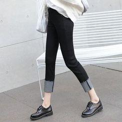 COBALT - Cuffed Skinny Jeans
