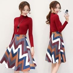 Romantica - Set: Sweater + Printed Skirt