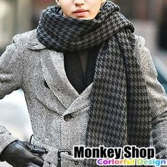 Monkey Shop - Houndstooth / Plaid Winter Scarf