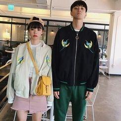 Fella - Couple Matching Embroidered Zip Jacket
