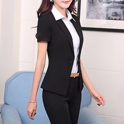 Caroe - Set: Short-Sleeve Blazer + Dress Pants / + Dress Shirt