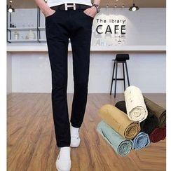 Fisen - Plain Straight-Leg Pants