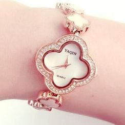Nanazi Jewelry - Four-Leaf Clover Shell Bracelet Watch
