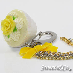 Sweet & Co. - Sweet Glitter Yellow Cupcake XL Bag Charm