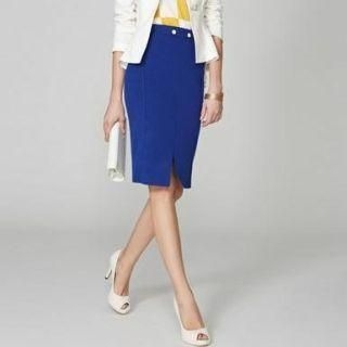 O.SA - Wool-Blend Slit-Front Pencil Skirt